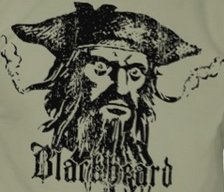 Caribea Blackbeard The Pirate Graphic Design